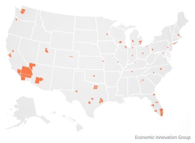 Where over half of all job creation happened in the US 2010-2014. (economic innovation group)