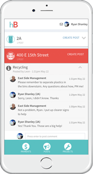 You can post and respond to messages from your neighbors and landlord on your Building Page