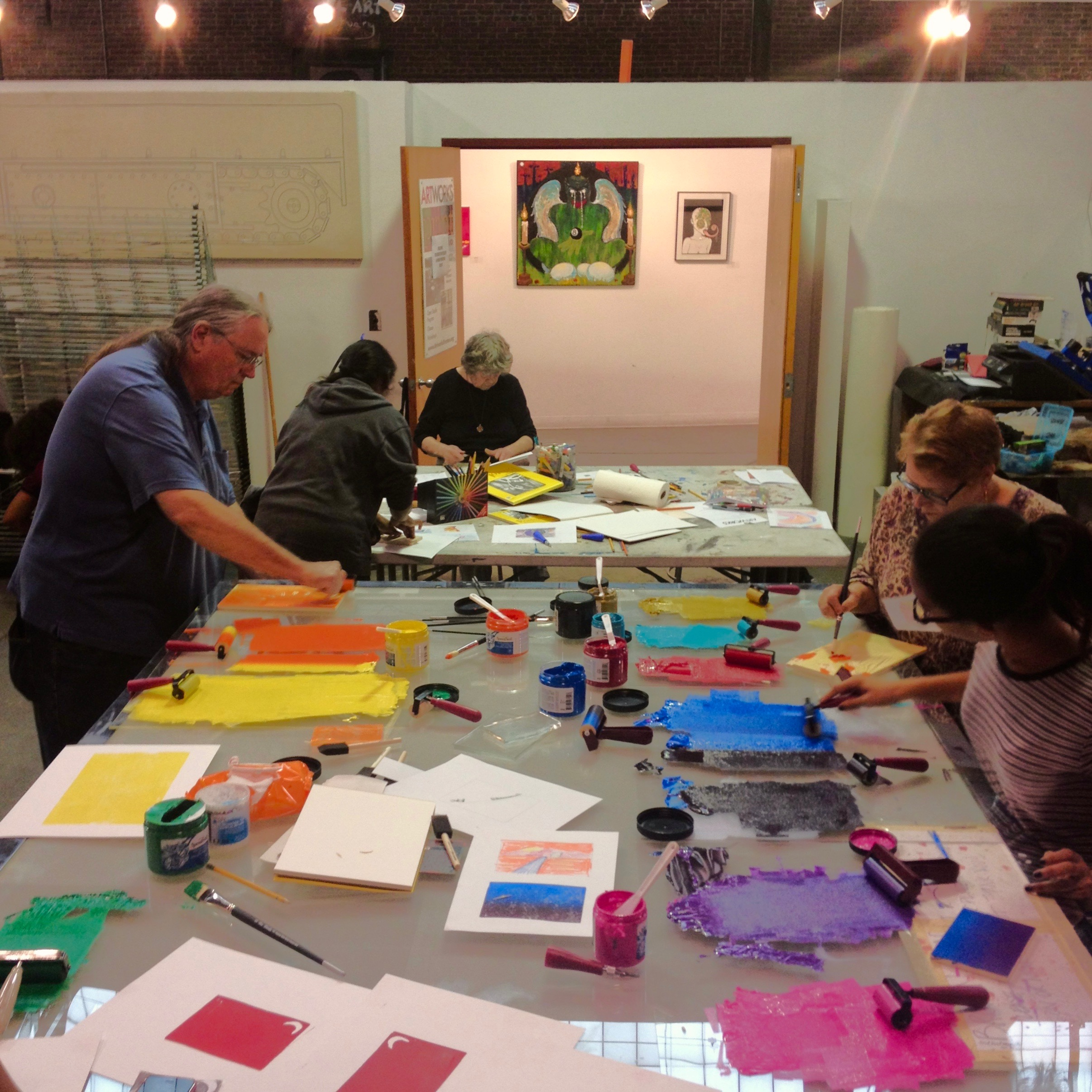 Relief Print Workshop at Artworks in Trenton, NJ.