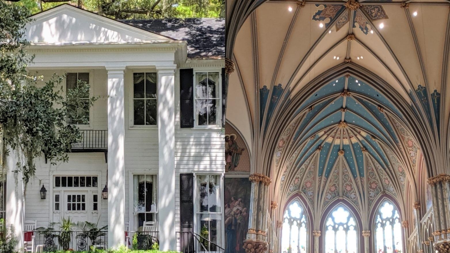 savannah style - homes, churches & plantations -