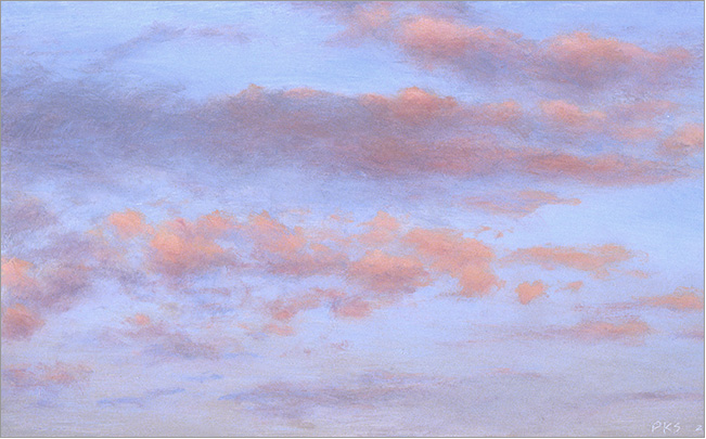 "Cloud Study, Orange-Pink  3 x 5""  oil on panel  2005"