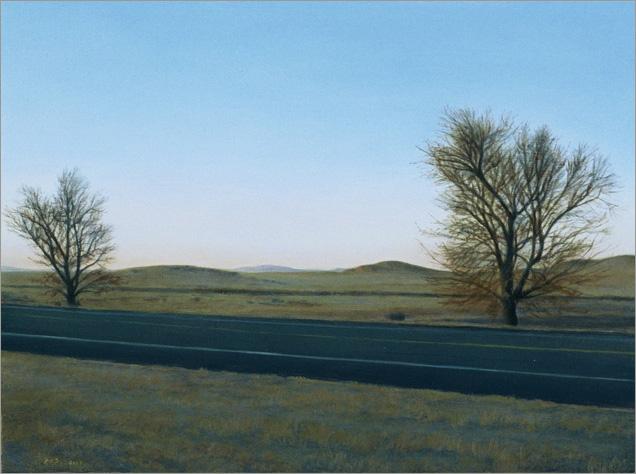 "Outside Marfa, Texas  6 x 8""  oil on panel  2007"