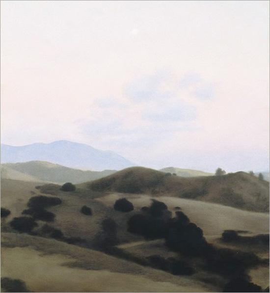 "Moonrise over Sedgwick  12 x 10""  oil on panel 2007"