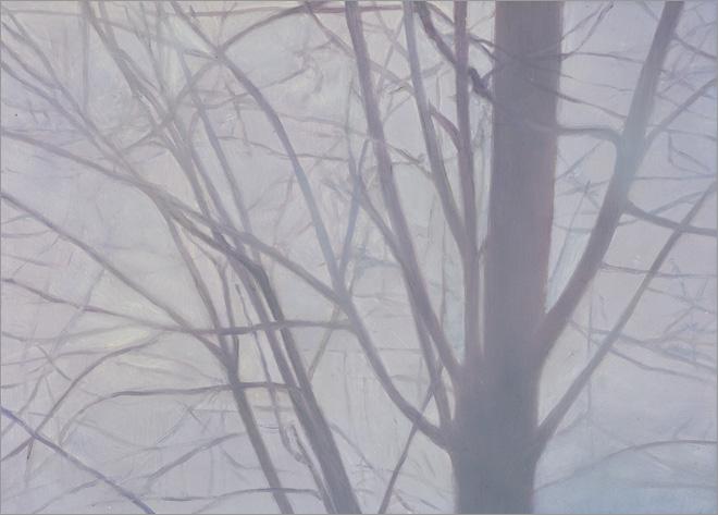 """Tree Study #1  5 x 7"""" oil on panel  2008"""
