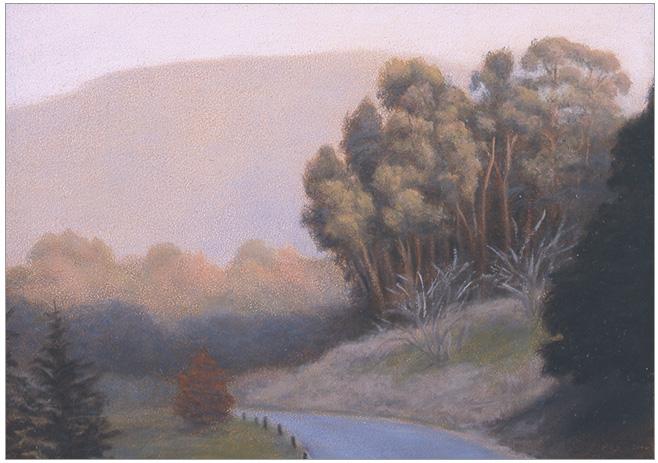 "Sunlit Eucalyptus  5 x 7""  oil on panel  2006"
