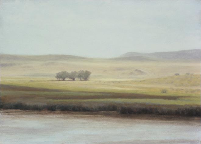 "Summer Light in Wyoming  6 x 8""  oil on panel  2010"