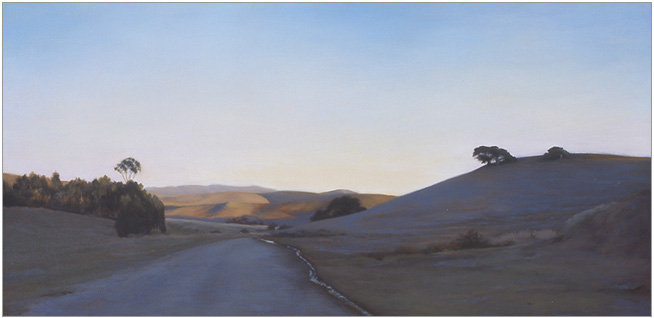 """Shade of a Winter Day  12 x 24""""  oil on canvas  2002"""