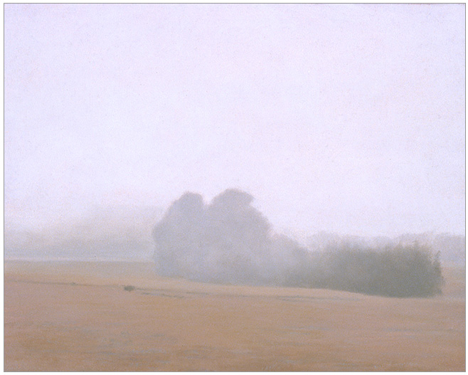 """Fog over the Meadow  8 x 10""""  oil on panel  2006"""