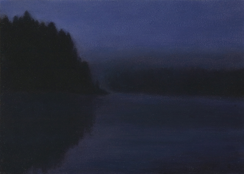 "Yellowstone River, 6 A.M.  5 x 7"" oil on linen 2015"