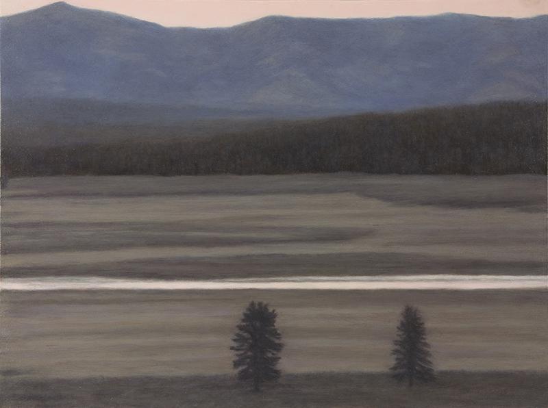 """Yellowstone River, Hayden Valley 9 x 12"""" 2015"""