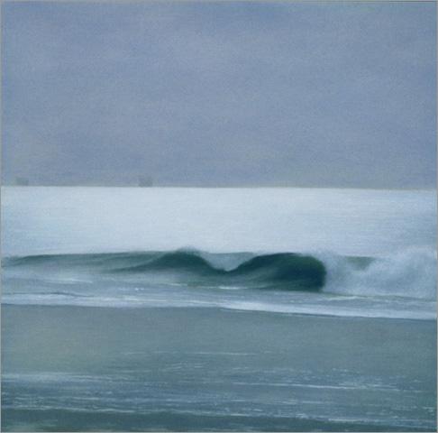 """Wave: Lavender Light  8 x 8""""  oil on panel  2007"""