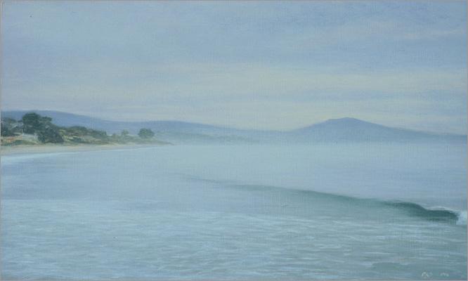 "High Tide, Miramar Beach  5 x 8""  oil on panel  2006"