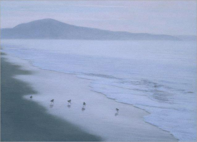 "Early Morning, Miramar Beach  6 x 8""  oil on panel  2007"