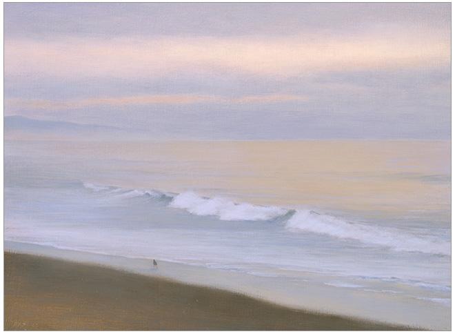 """Solitude, Miramar  6 x 8""""  oil on panel  2005"""