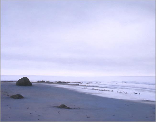 "Low Tide in Winter, Devereux  11 x 14""  oil on panel  2006"