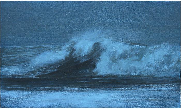 "Dark Surf  3 x 5""  oil on panel  2004"