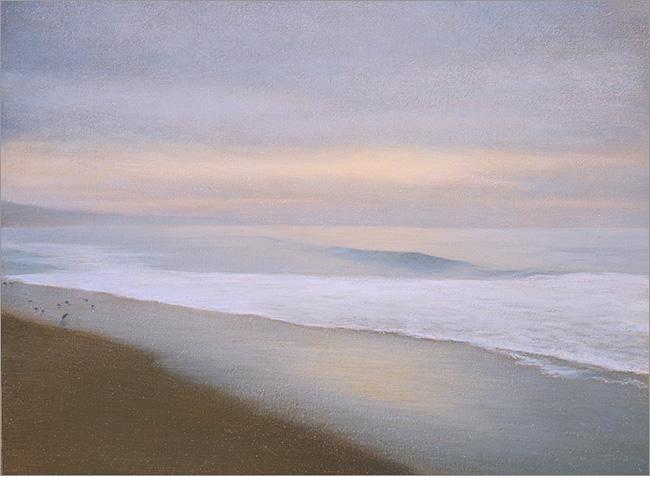 "Harmonious Rhythm, Miramar  6 x 8""  oil on panel  2006"