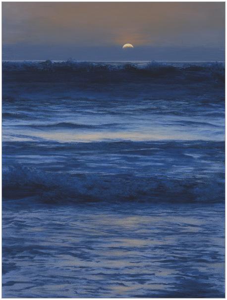"Breaking Waves  12 x 9""  oil on panel  2002"