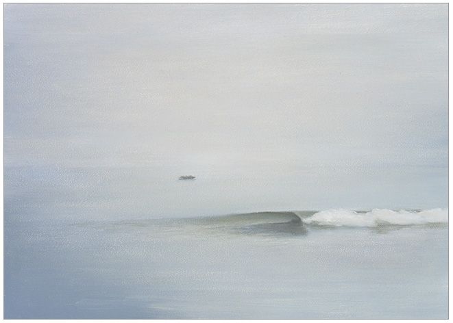 "A Single Wave  5 x 7""  oil on panel  2004"