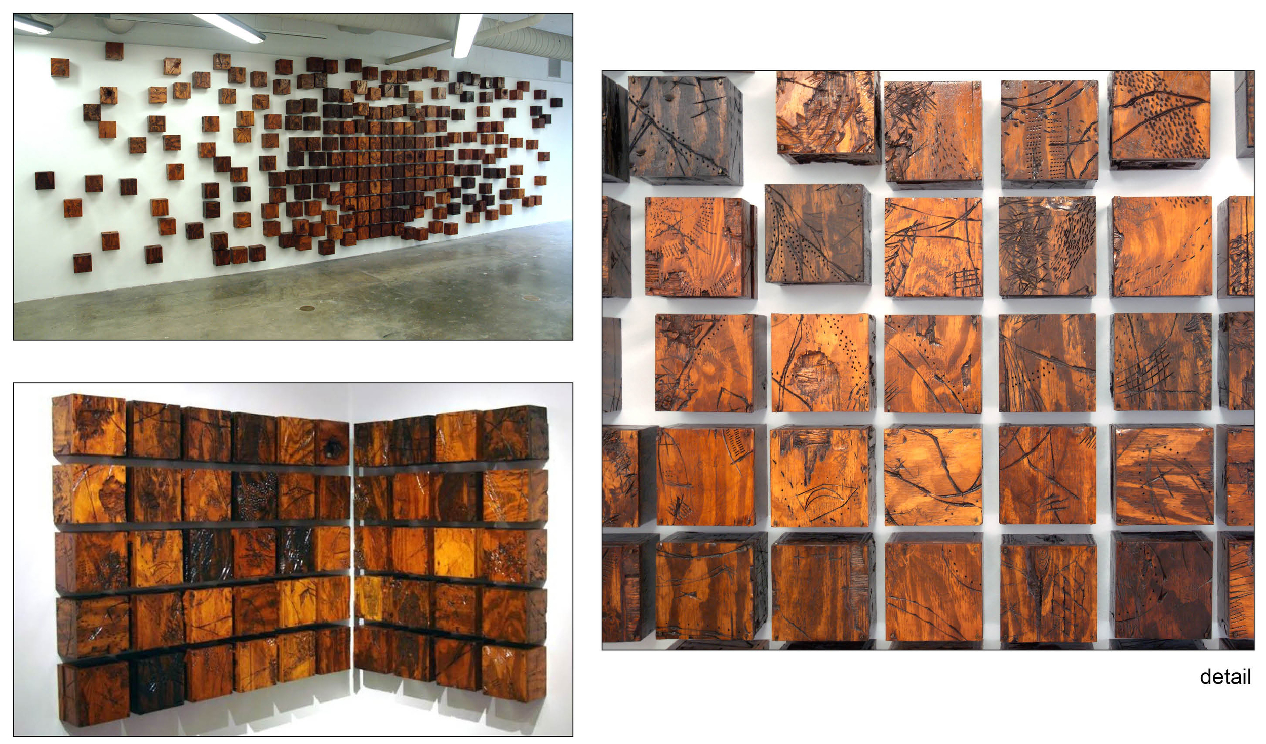 Fluctuations - Formation I & II  size varies based on formation  oil paint, shellac, plywood, masonry nails  2012