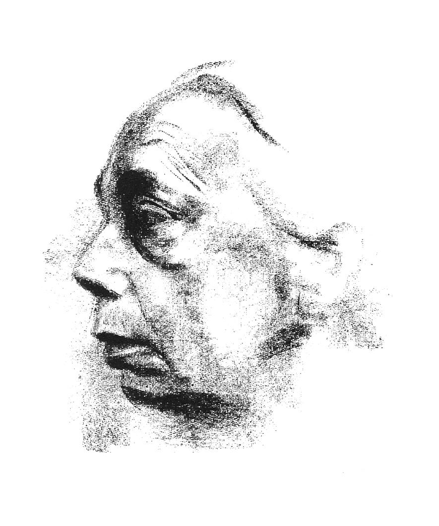 """KOLLWITZ, """"Selbstbilnis im Profil"""" 1927"""
