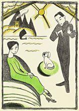 Gabriella Münter   Plakat für die Gabriella Münter Ausstellung 1918 in     Kopenhagen   Lithograph, 1918