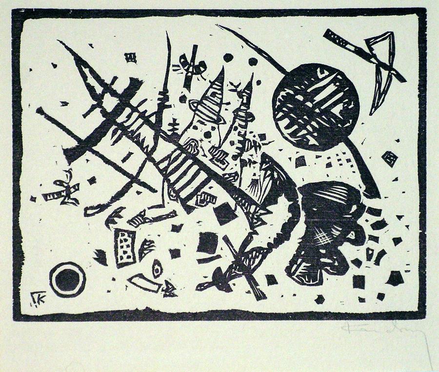 """KANDINSKY, """"Holzscnitt fuer die Ganymed Mappe"""""""