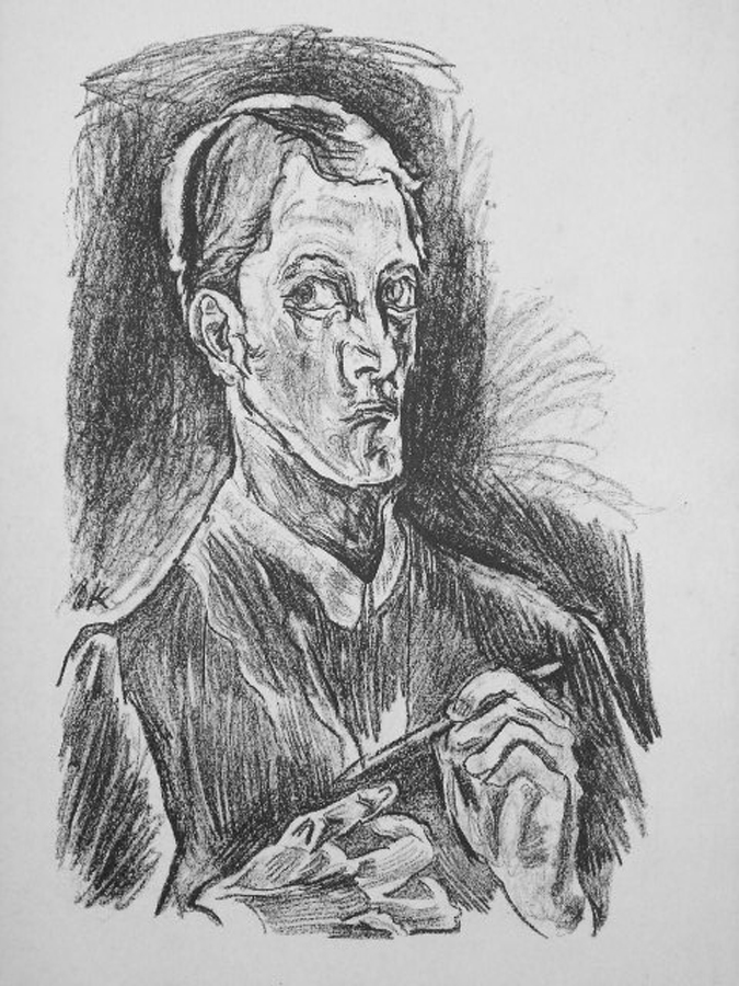 """Kokoschka, """"Selbst Portrait"""""""