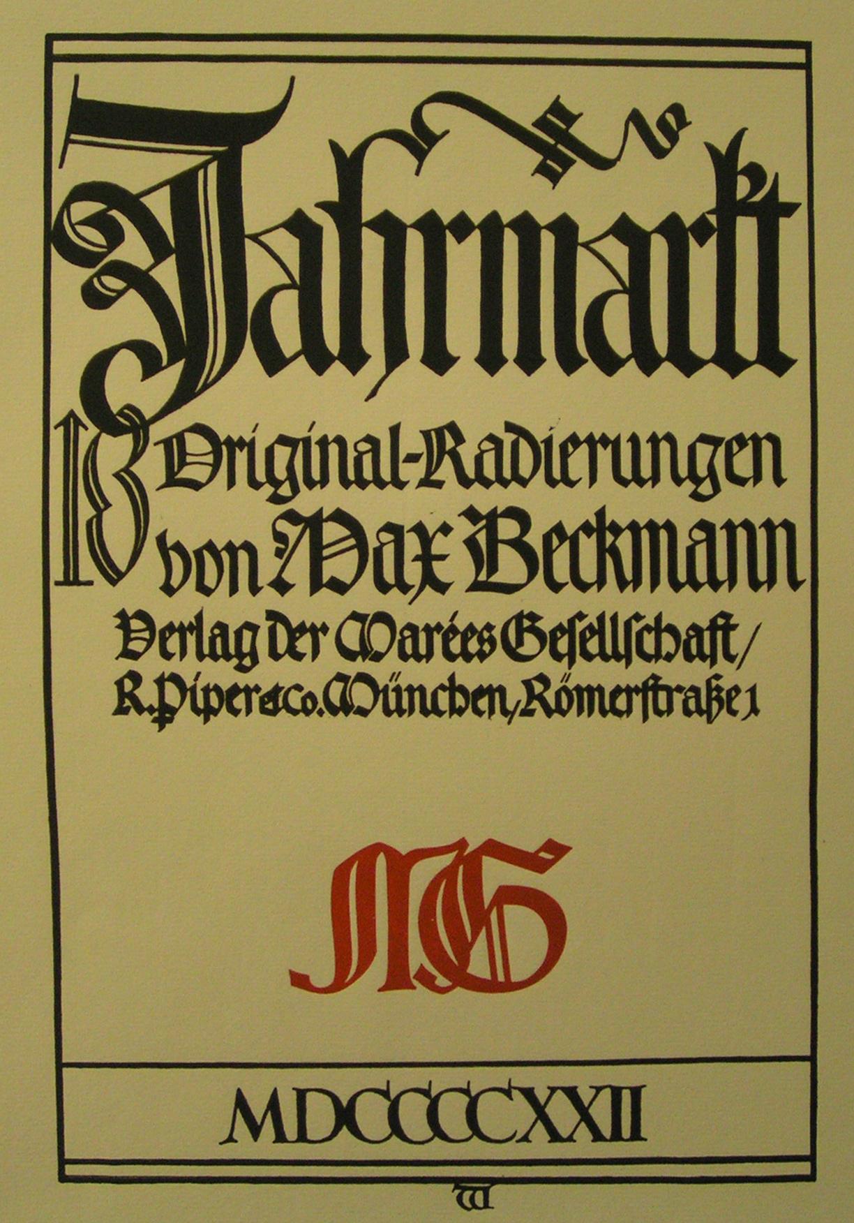 """BECKMANN, """"Jahr Markt 2"""""""