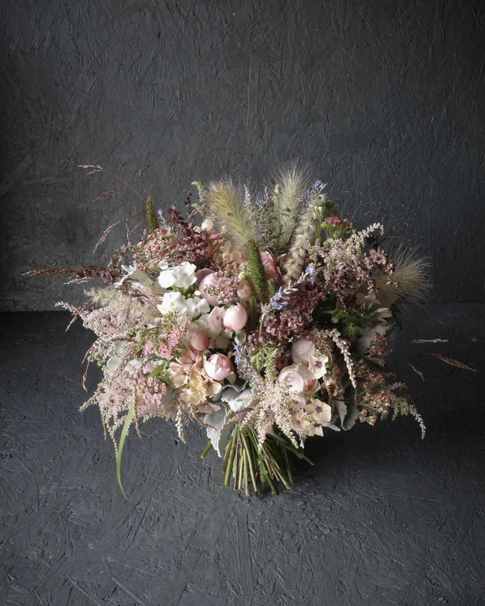"""Catkin offers the most beautiful wedding flowers. - Brides looking for British, seasonal flowers grown with passion and love should look no further. From my first meeting in the potting shed to the incredible designs she created for my wedding day made this a perfect flower buying experience."""