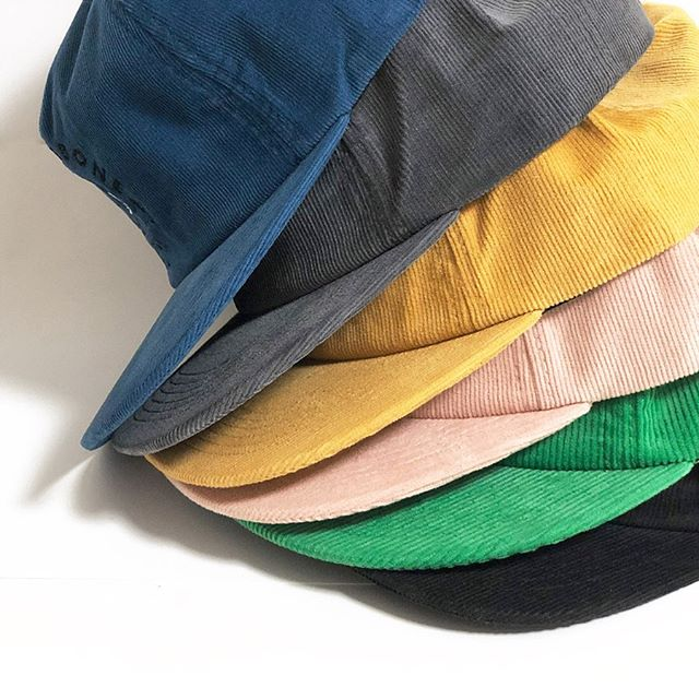 Cord cap season is upon us!  With many color options, we cut to order and constructed in any silhouette. . . #corduroy #cuttoorder #hats #cap #headwear #bongiornobrand #hat #manufacturing #beanie #design #fabrics #snapback #fall19 #autumn #hat