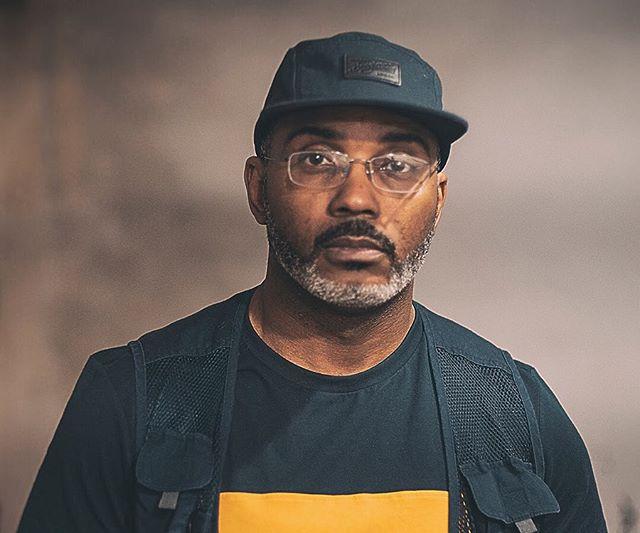 The mad scientist! Hip hop legend @xplargepro 🙏💯 . . #largeprofessor #bongiornobrand #headwear #hat #5panel #cap #newyork #hiphop #streetwear #nyc