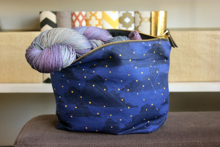Yarn by Tanis Fiber arts, and bag by Jenna Rose!