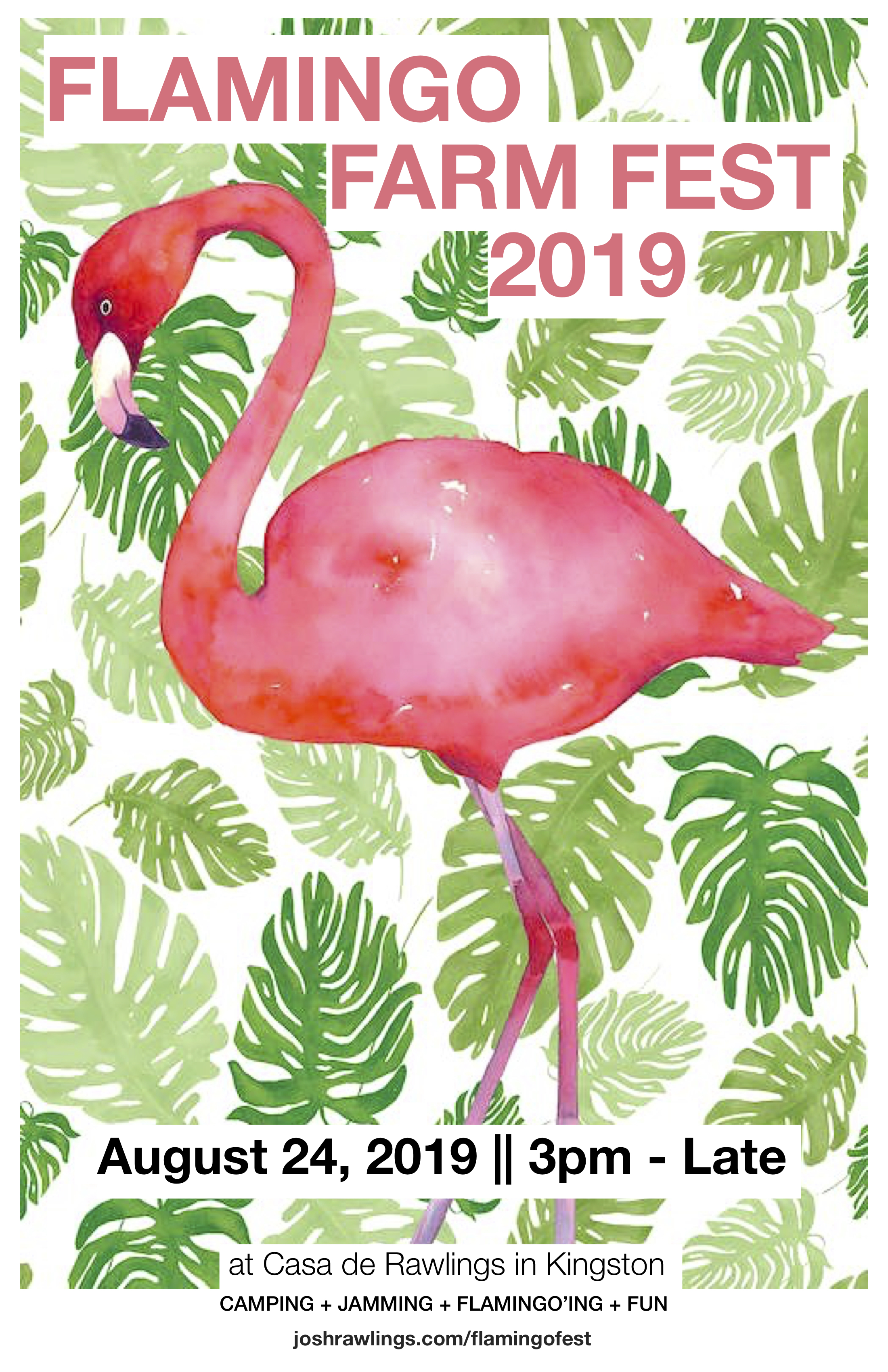 Flamingo Farm Fest 2019 Poster