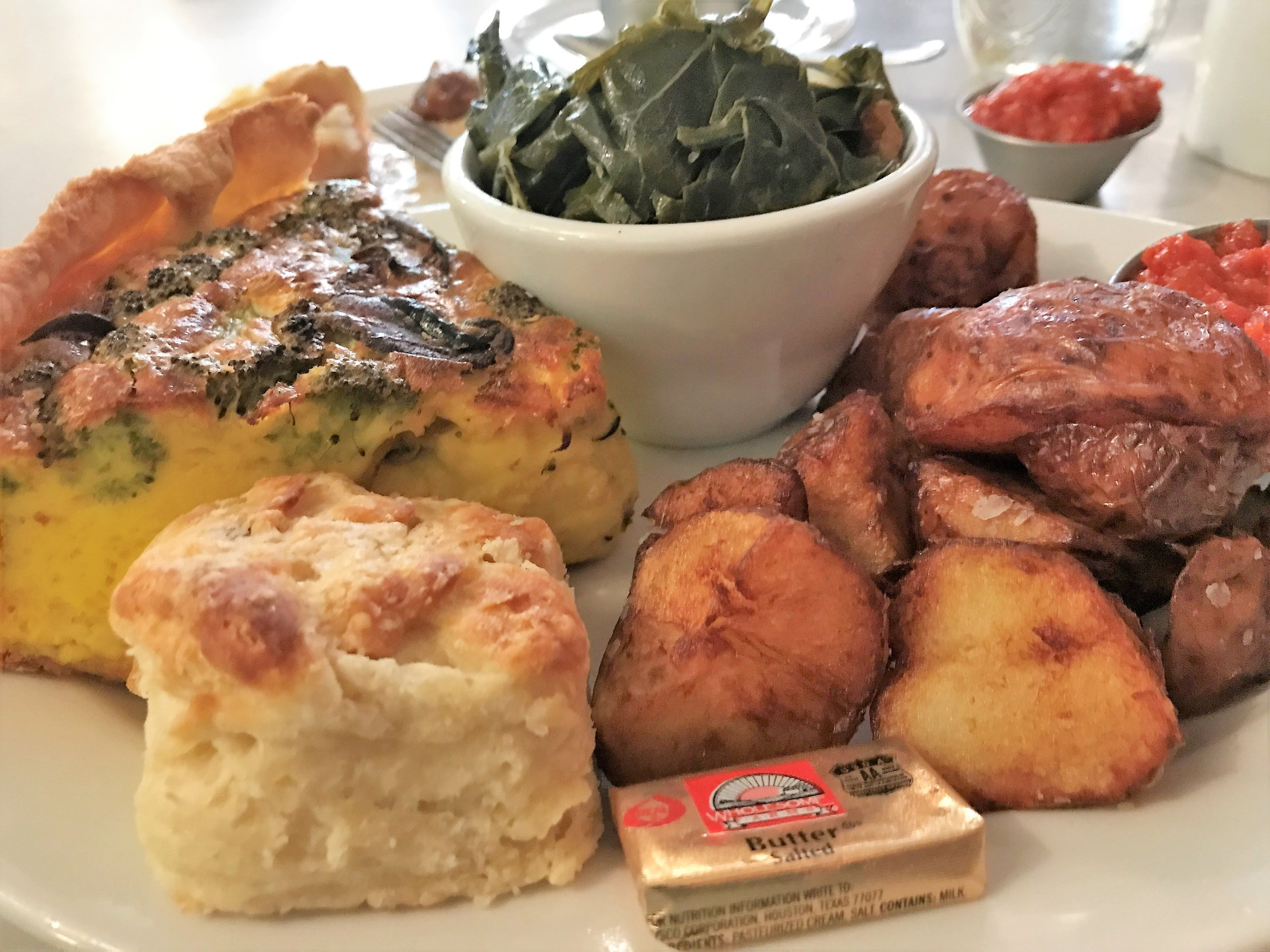 Quiche Collards and Roasted Potatos at Proper in Boone NC .jpg