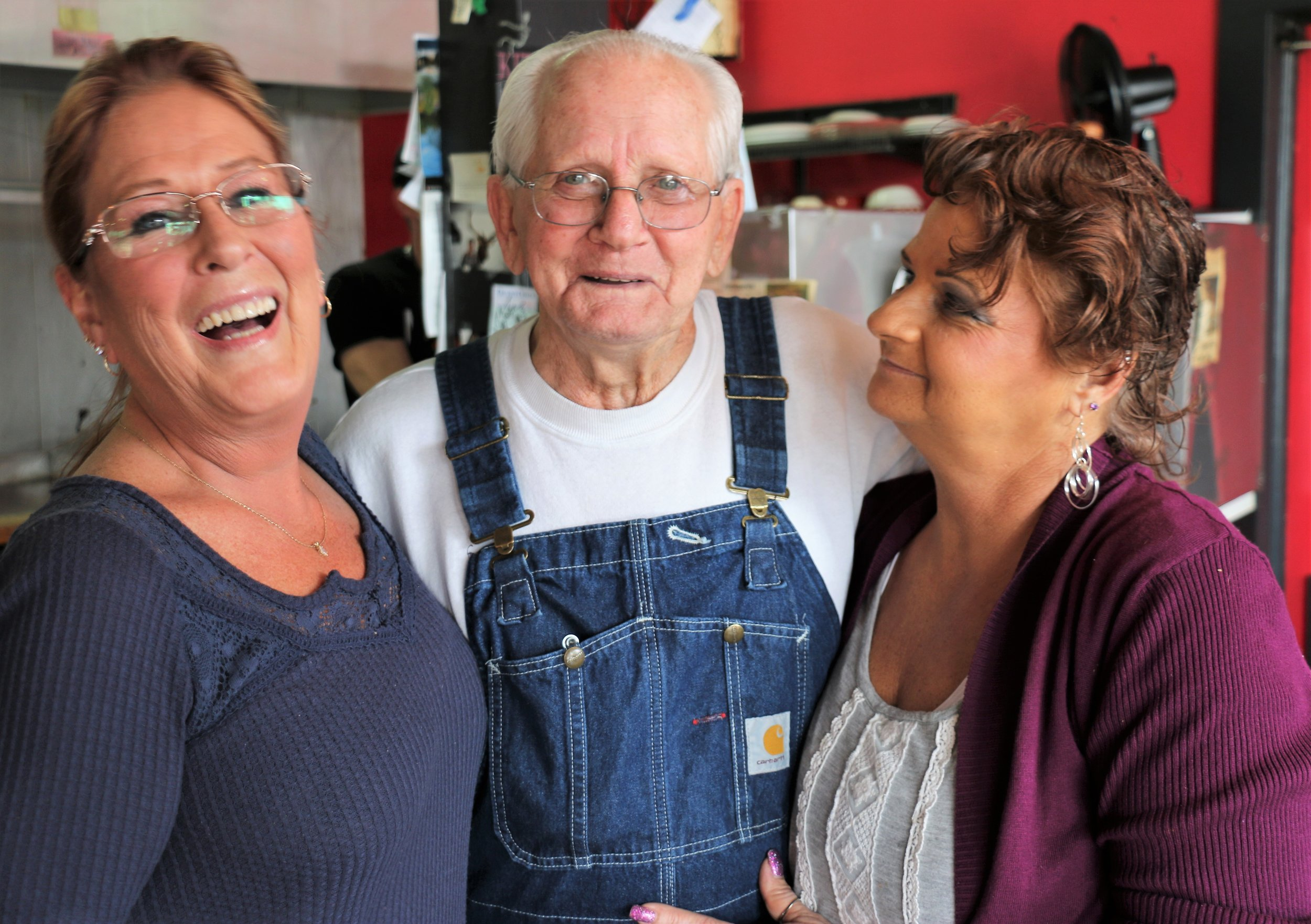 Left -    ,Center -  Customer Clyde Ray Lackey, Right- Owner, Kelly Vought .jpg