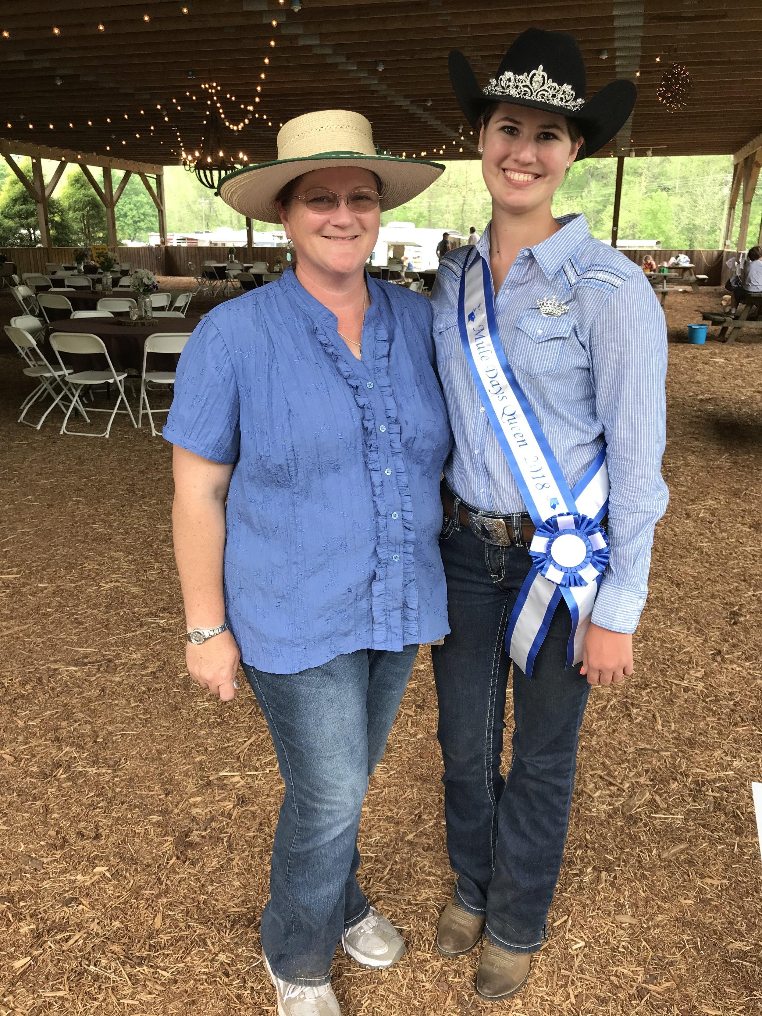 Shannon St. Clair Hoffman and Morgan Jones 2018 Mule Days Queen