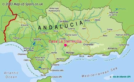Casa La Sierrecilla, Andalucia, location