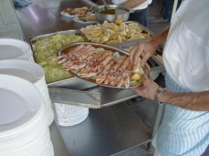 Freshly grilled langoustines