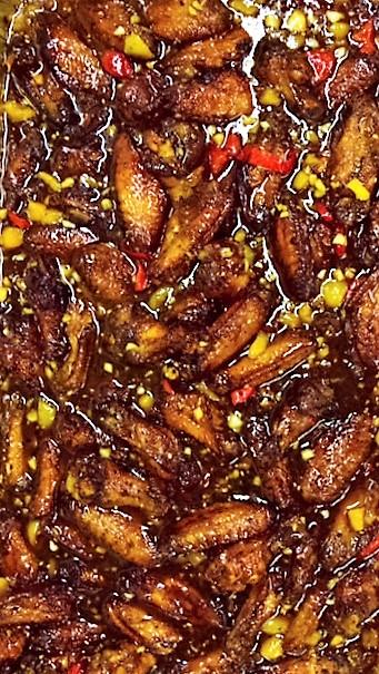 Baked Teriyaki Ginger-Honey party wings
