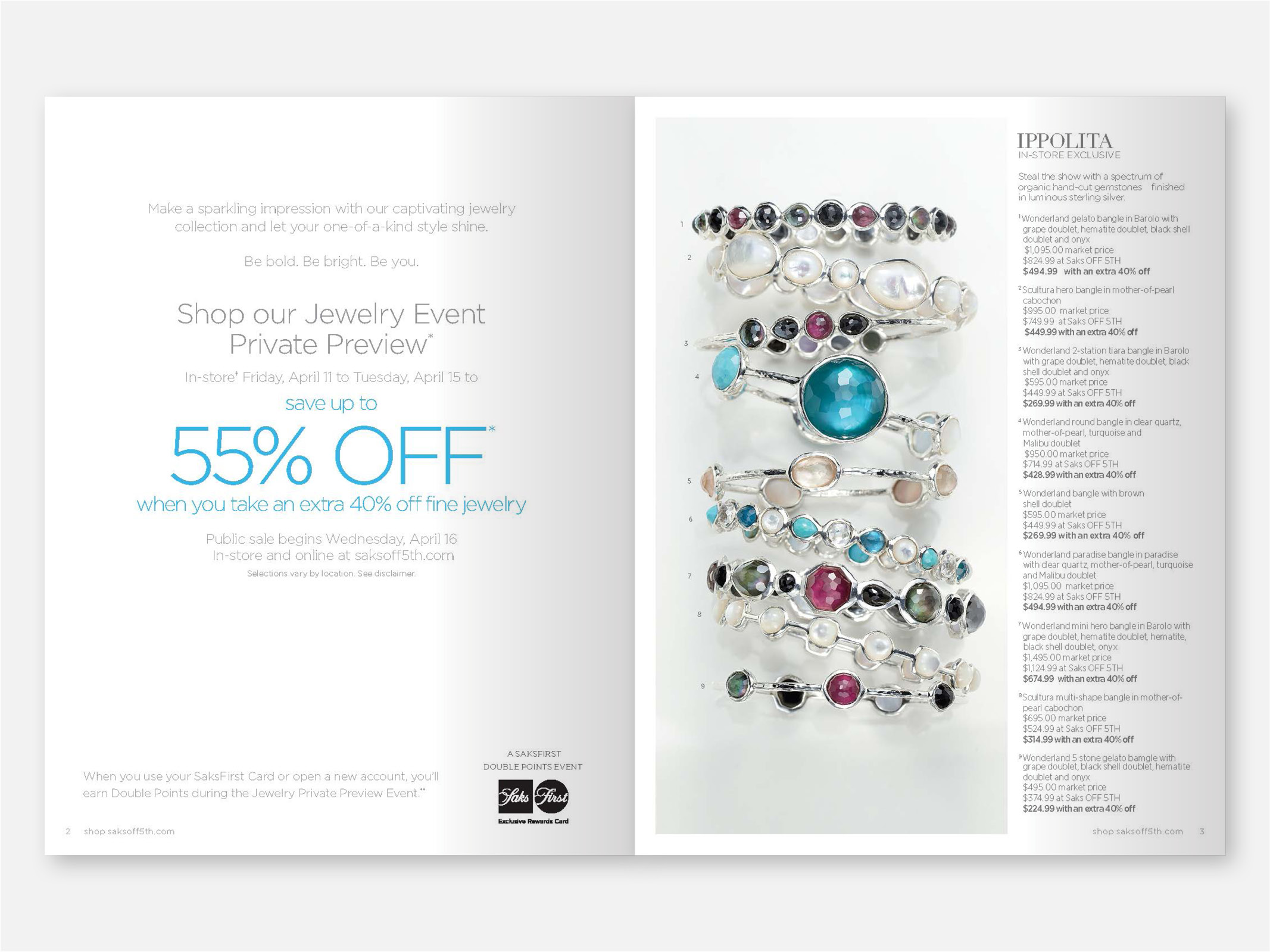 Fifth Avenue Catalog >> Saks Off 5th Jewelry Book Joanna Bury Design
