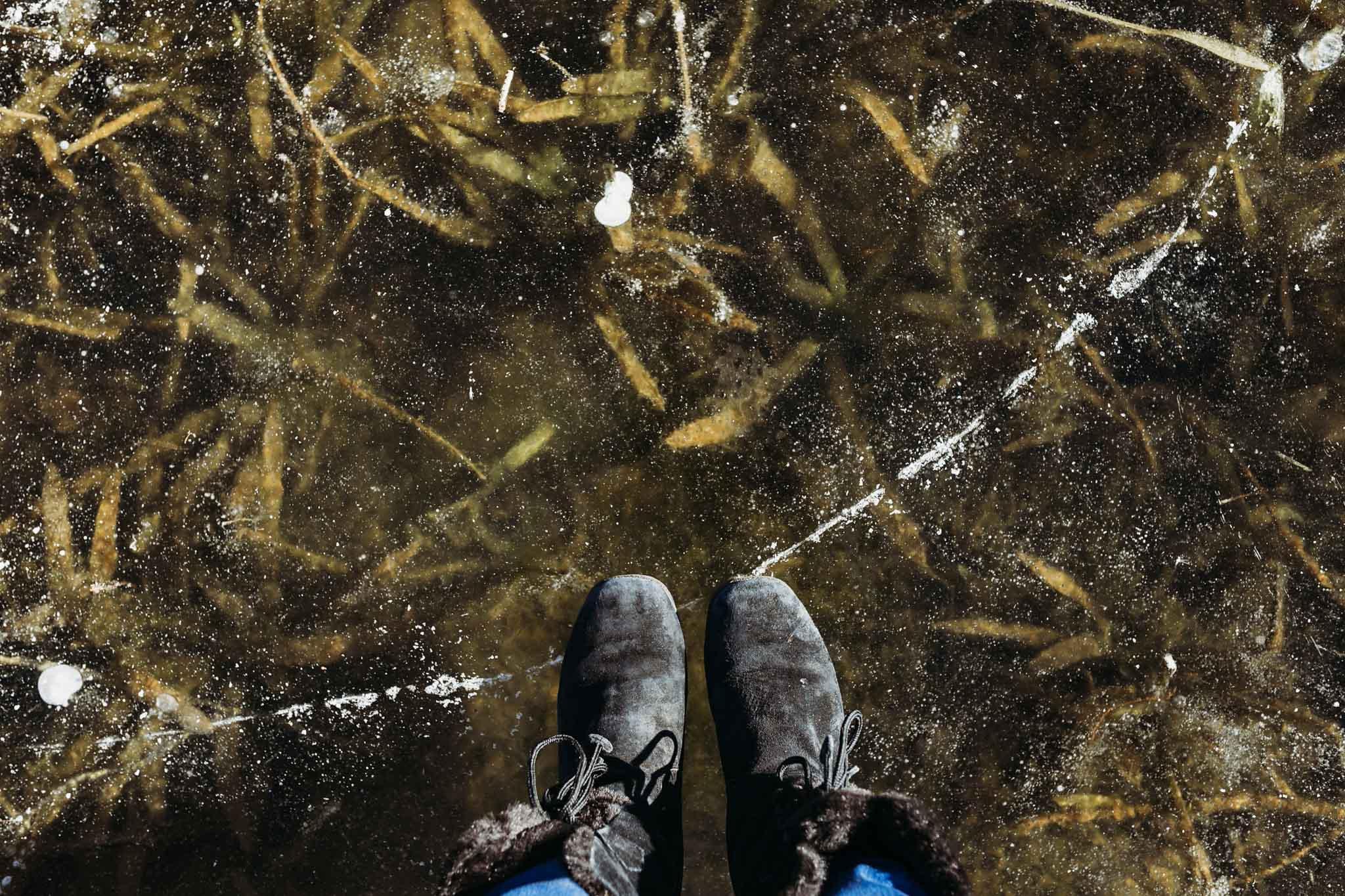 Frozen Lake. Fairvew, NC