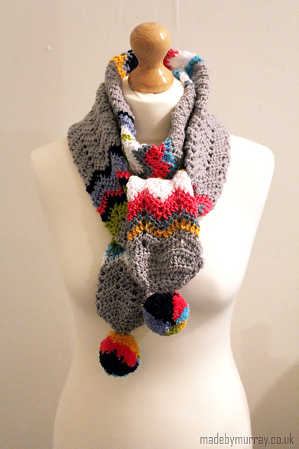 Link to the Super Stash Busting Scarf on my Ravelry notebook