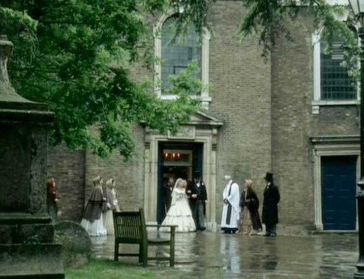 From the BBC adaptation, Fanny gets married. This church is St John at Hampstead (north London).