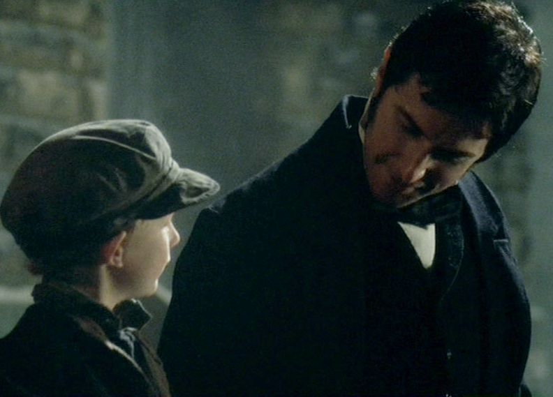 The BBC's John Thornton has a tender moment with Boucher's son.