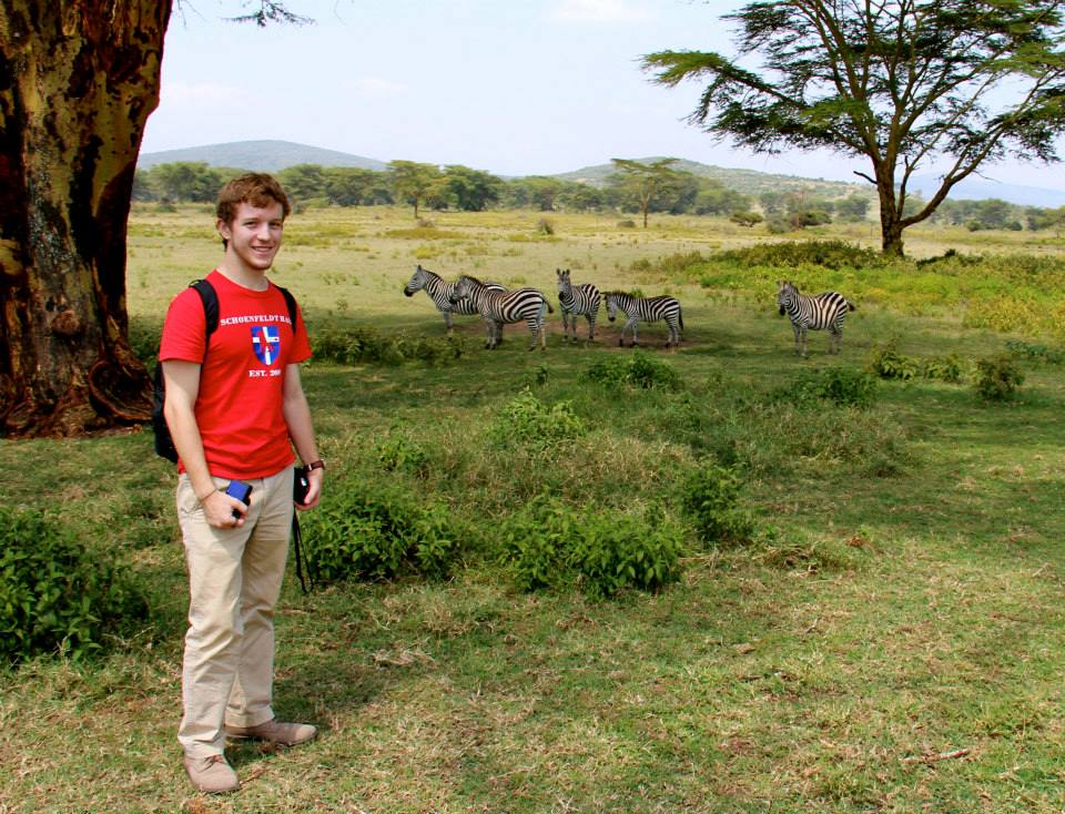 Brian on his service trip in Kenya!