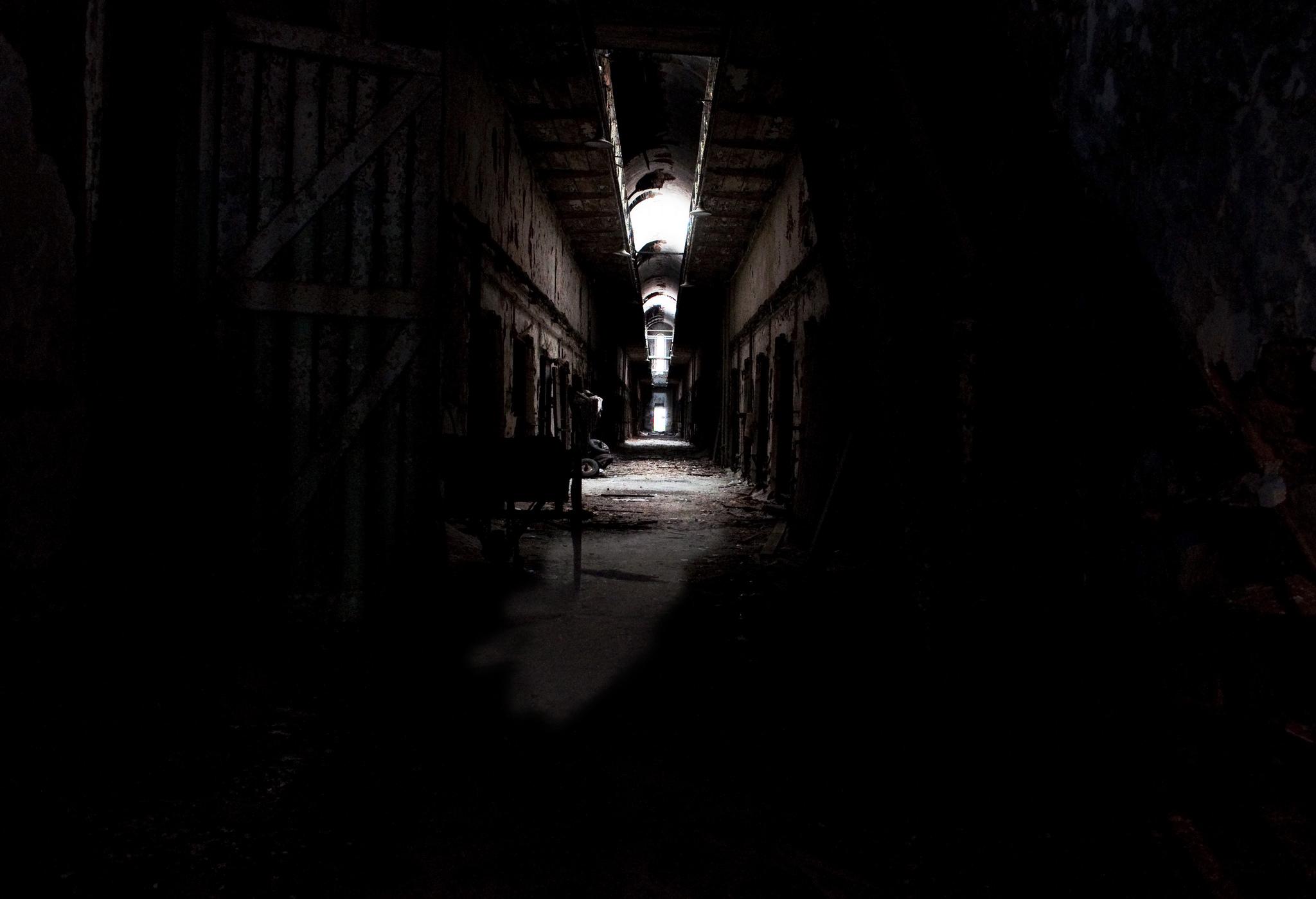 Darkness lies behind