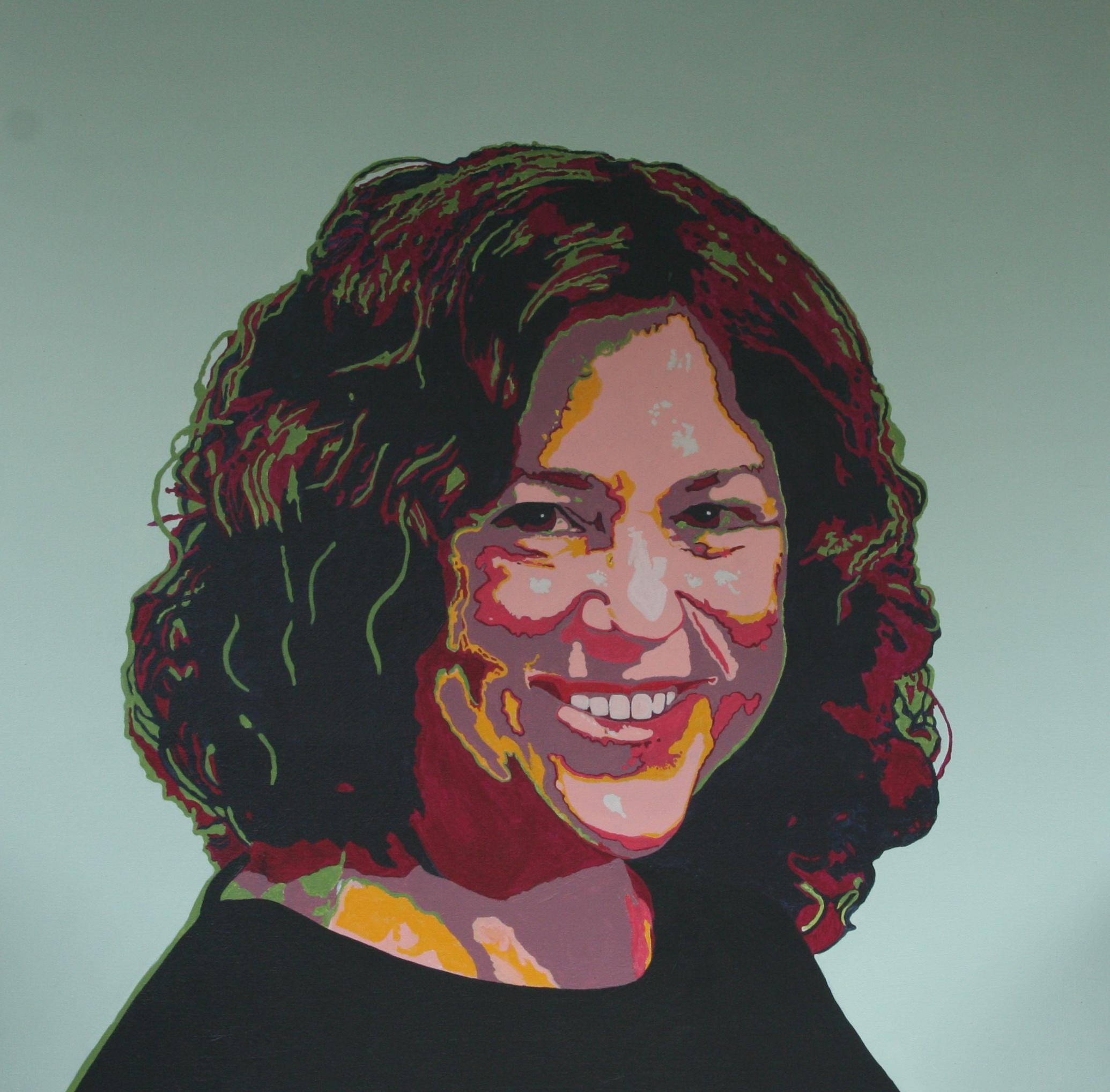 "Self Portrait: Untitled  , Acrylic,36"" x 36"""