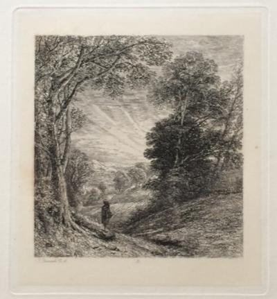 "Thomas Creswick, ""The Evening Walk;"" 1842; engraving"