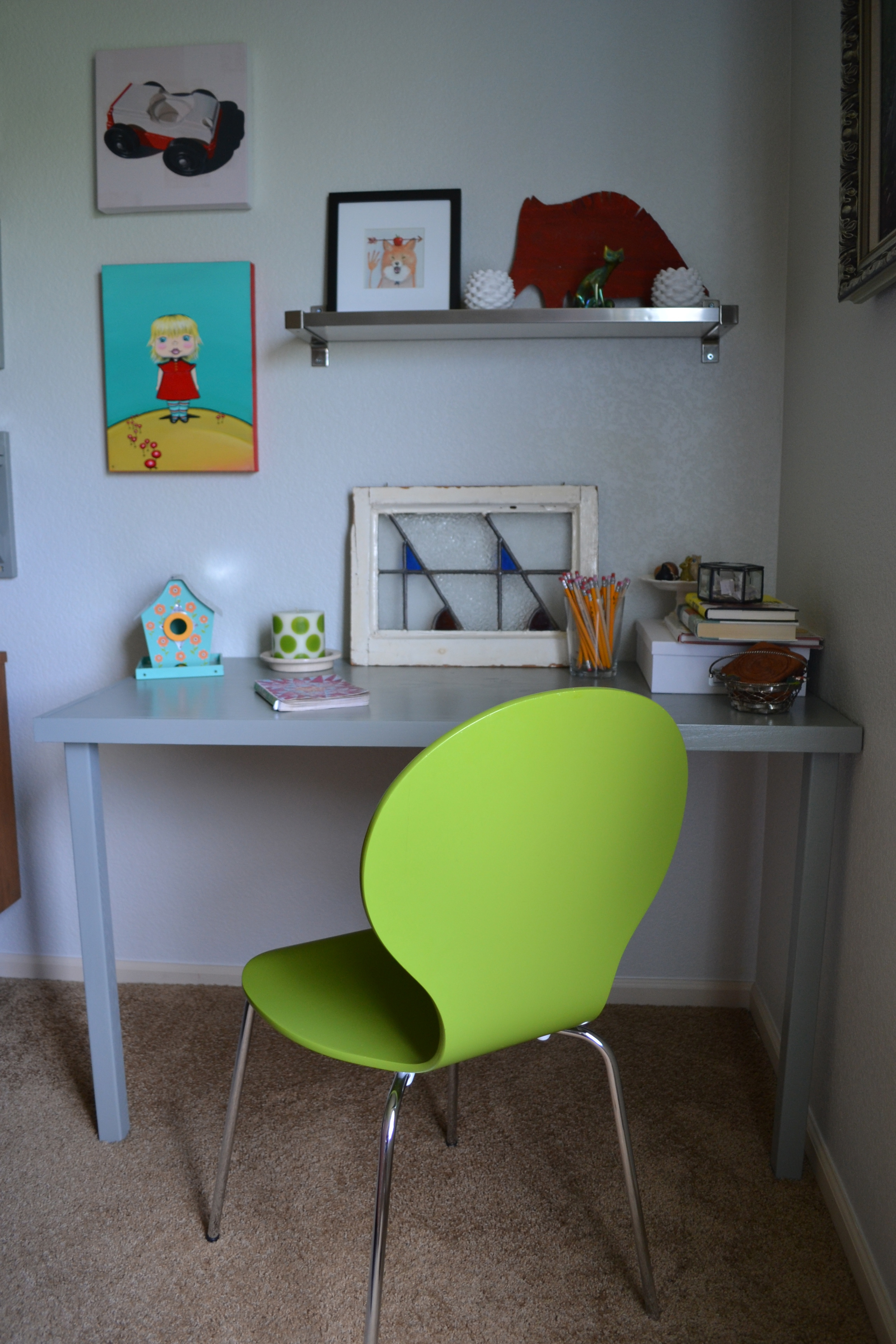 A Target dining chair in green